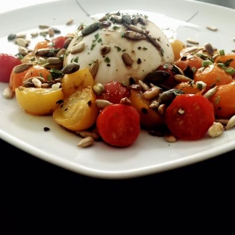 Burrata Tomaten Karamell