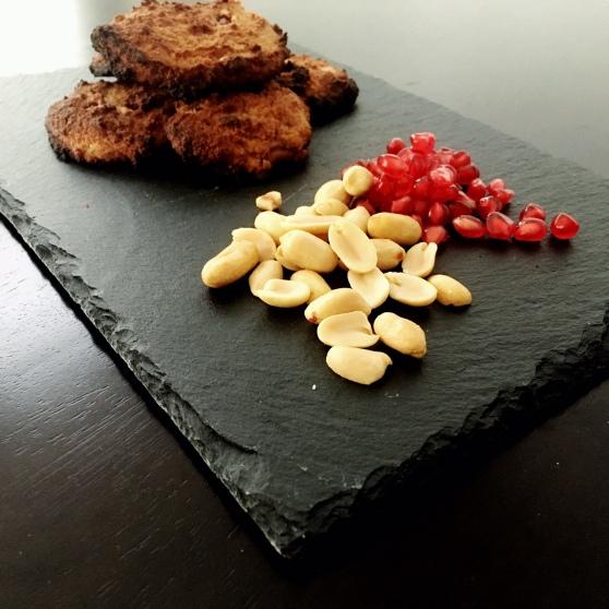 Erdnuss Peanut Granatapfel Cookies