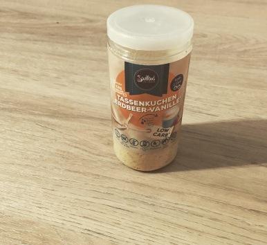 Packung Soulfood LowCarberia Tassenkuchen Erdbeer Vanille.JPG